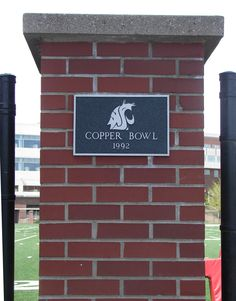 Plaques surrounding Rogers Field