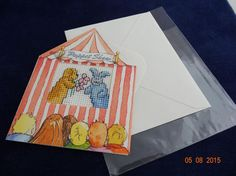 Puppet Show greetings card by LittleInsect on Etsy £0.99
