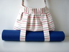 Yoga Bag Pink Stripes with Straps for Yoga Mat by BabiminiS, €49.00