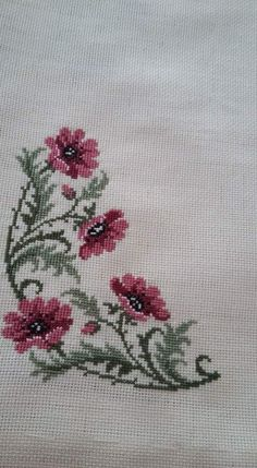 This Pin was discovered by Gül Small Cross Stitch, Cross Stitch Bird, Cross Stitch Flowers, Cross Stitch Designs, Cross Stitching, Cross Stitch Patterns, Hand Embroidery Designs, Embroidery Applique, Cross Stitch Embroidery