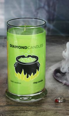 Diamond Candles oooh bubbly bubbly - find a cool ring inside Relationship Red Flags, Diamond Candles, The Black Cauldron, Candle Rings, Black Candles, Witches Brew, Candels, Found Out, Creative Gifts
