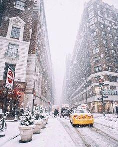 Super Photography Winter Christmas New York Ideas Winter Szenen, Winter Love, New York Winter, Winter Travel, Winter In Nyc, New York Snow, Nyc Snow, New York Weihnachten, Photography Winter