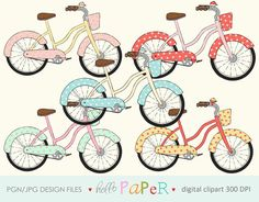 Vintage BiKE  digital clipart  for photography by byhellopaper