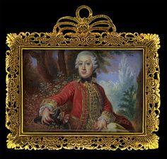 Miniature portrait of Karl Alexander, Duke of Lorraine by anon.,1740s