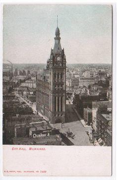 Milwaukee Wisconsin, Green Bay, Vintage Postcards, Paris Skyline, Glitter, Memories, Architecture, City, Building