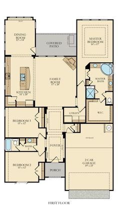Jade New Home Plan in Johnson Ranch: Brookstone II Signature & TX Reserve by Lennar Bungalow House Plans, New House Plans, Dream House Plans, Small House Plans, House Floor Plans, My Dream Home, Home Design Plans, Plan Design, Building Plans