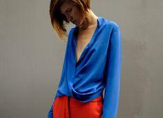 Bianca Spender Cornflower Twist Shirt