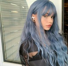 Hair Color Streaks, Hair Color Purple, Hair Dye Colors, Cool Hair Color, Green Hair, Light Hair Colors, Blonde Hair With Blue Highlights, Edgy Hair Colors, Faded Purple Hair