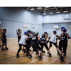Some of my beautiful @hereford_roller_girls kicking ass. #rollerderby #herefordrollergirls #horrorbulls sent via @latergramme