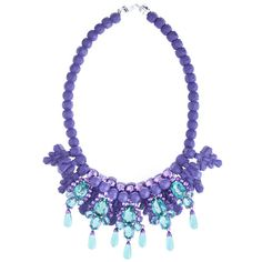 EK Thongprasert Purple De Poisson Necklace (8,300 SVC) ❤ liked on Polyvore featuring jewelry, necklaces, jewels, accessories, collares, collar jewelry, jewel collar necklace, jewel necklace, ek thongprasert jewelry and ek thongprasert