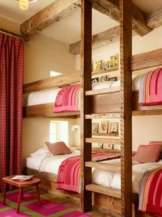 Childrens bunk room in ski house in California