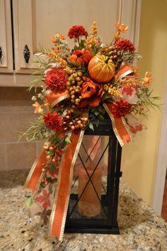 Fall Pumpkin Lantern Swag by kristenscreations on Etsy