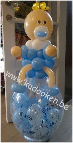 Baby op geschenkballon Geboorteballonnen ballonnen geboorte balloons, geboortegeschenk