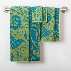 Fern/Blue Parnavi Towel Collection at Cost Plus World Market