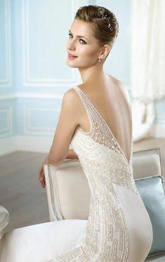 Vestido con espalda escotada de San Patrick 2014 Bridal Collection