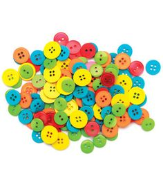 Favorite Findings Buttons-Citrus Assorted 130/pk