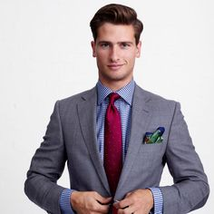 Fine example of pattern mixing. http://www.moderngentlemanmagazine.com/mens-style-suits-pattern-mixin/