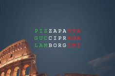National Stereotypes as Typographical Flags by Kirill Zaytsev