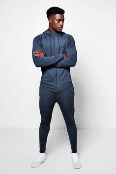 cb3f218166 boohoo - Muscle Fit Man Poly Tracksuit - $43.00 Men's Sportswear, Gym Wear,  Stylish