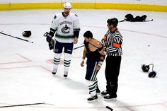 Bieksa, after his fight with Ben Eager way back when.  Trade to the Sharks fell threw.  Would have been a good get I think.