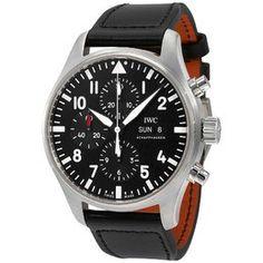 Hamilton Men's Khaki X Wind Automatic Chronograph Men's Watch H77616533 H77616533 - Watches, Hamilton - Jomashop Iwc Watches, Cool Watches, Iwc Pilot Chronograph, Black Leather Watch, Brown Leather, Mechanical Watch, Watch Brands, Luxury Watches, Men Watches