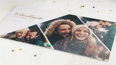 Horizontale Klappkarte 210x100 - Braungold Winter, Polaroid Film, Sparkle, Christmas Cards, Projects, Nice Asses