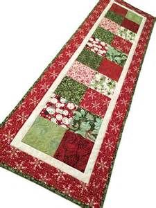 Christmas Charms Quilted Table Runner Blitzen Fabric by Basic