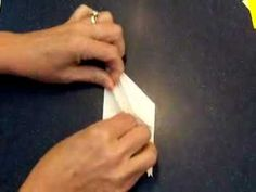 How to make an origami peace crane. Easy tutorial.