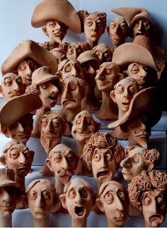 Sculpture Clay, Caricature, Portraits, Inspiration, 3d, Patterns, Sculpture, Paint, Rain Bow