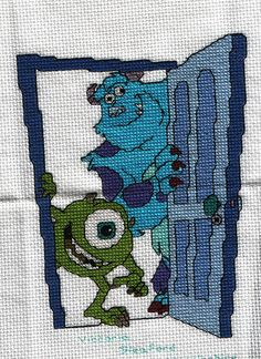 monsters inc cross stitch by semiovale on flickr.