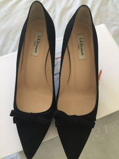 fed6760d950 lk bennett black Suede Kitten Heel shoes Size 41 - Kitten Heels from Ebay UK  -