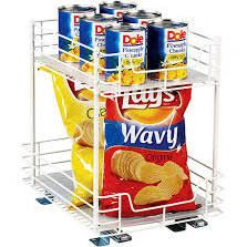 "Household Essentials 12"" Two Tier Sliding Pantry Organizer - 21216"