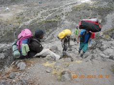Continuing up the Great Barranco Wall...