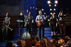 The Lumineers performing at the 2013 Grammy Awards