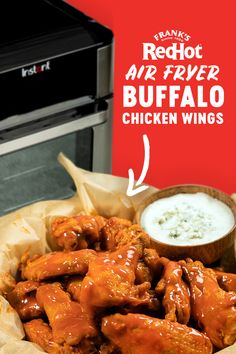Air Fryer Dinner Recipes, Air Fryer Oven Recipes, Appetizer Recipes, Appetizers, Dessert Recipes, Air Fryer Wings, Air Fryer Chicken Wings, Super Bowl Essen, Air Frier Recipes