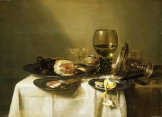 Willem Claesz Heda, Still Life with Ham and Roemer, Dutch art
