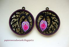 Was ich mache und was ich mag: Quilling Ohrringe / Quilli - Paper Quilling Earrings, Origami And Quilling, Paper Quilling Designs, Quilling Paper Craft, Quilling Patterns, Quilling Ideas, Paper Jewelry, Paper Beads, Jewelry Crafts