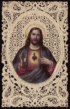 O Sacred Heart of Jesus, filled with infinite love, broken by my ingratitude, pierced by my sins, yet loving me still; accept the consecration that I make to You of all that I am and all that I have. Catholic Prayers, Catholic Art, Religious Icons, Religious Art, Religious Pictures, Jesus E Maria, Vintage Holy Cards, Christian Images, Heart Of Jesus