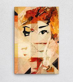 Actor_No1  #Canvas #Art #WallArt #print #abstract #experimentation
