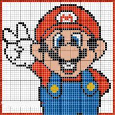 Mario perler beads pattern
