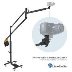 [1 x] Camera Jib Crane. Video Camera Jib Crane. Compatible with Any DSLR Camera or Camcorder with Mounting Adapter. [1 x] Camera Flash Bracket Mounting Adapter. Camera Flash Bracket. High Camera Mount. | eBay!