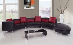 919 Sectional Set B - Black/Red