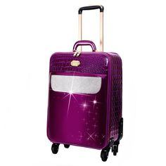 Sleek and Steady Light Weight Spinner Luggage for the American Tourister Leather Skin, Vegan Leather, Womens Luggage, Moon Boots, Womens Fashion Stores, Travel Abroad, Girl Swag, Pebbled Leather, Wallets For Women