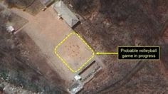Satellite images suggest volleyball being played at a nuclear site amid fears of an imminent test.