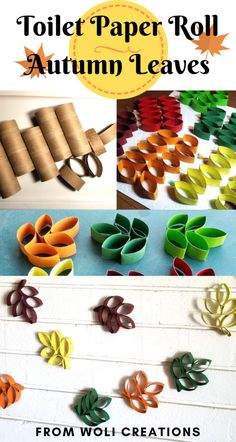 Toilet Paper Roll Autumn Leaves   Autumn Crafts   Woli Creations