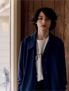 Actor Finn Wolfhard wears Canali and Privé.