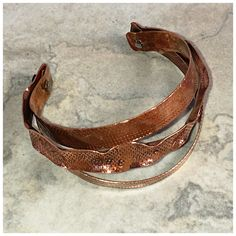 A personal favorite from my Etsy shop https://www.etsy.com/listing/457152034/boho-casual-copper-cuff-soho-chic-copper