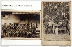 WWI 1916 - REPPE - 43 EME BATAILLON DE CHASSEURS - TERRITOIRE DE BELFORT - LOT DE 2 CARTES PHOTOS MILITAIRES