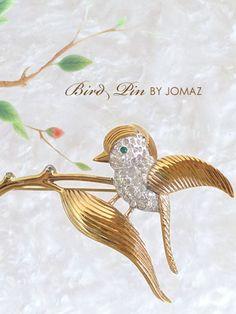 鳥のヴィンテージブローチ JOMAZ(ジョマズ)