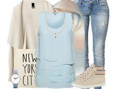Großartiges Outfit in Pastelltönen. Perfekt für einen schicken Ausflug in die Stadt. ♥